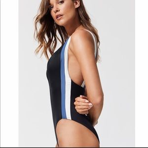 Solid and Stripe Zoe plunge neckline swimsuit